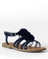 Classic Girls Arabella Flower Dress Sandals-Light Jade Foil