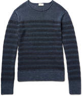 Club Monaco Striped Linen Sweater - Storm blue