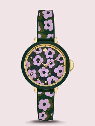 Kate Spade Park Row Flair Flora Silicone Watch