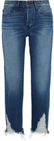 3x1 Distressed High-rise Boyfriend Jeans - Mid denim