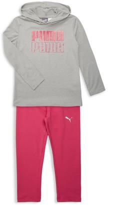 Puma Little Girl's 2-Piece Hoodie & Leggings Set