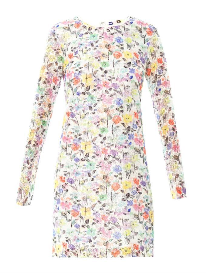 MSGM Floral lace dress