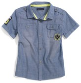 Tommy Hilfiger Final Sale- 5-Patch Short Sleeve Shirt
