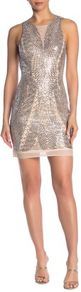 Laundry by Shelli Segal Sequined Cocktail Dress