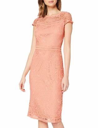 Dorothy Perkins Women's Coral Lace Trim Pencil Dress 22