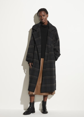 Vince Modern Plaid Coat