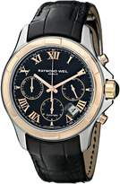 Raymond Weil Men's 7260-SC5-00208 Parsifal Stainless Steel Watch With Faux-Leather Band