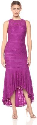 JS Collections Women's Hi Lo Lace Dress