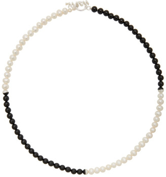 WWW.WILLSHOTT Black and White Pearl Necklace