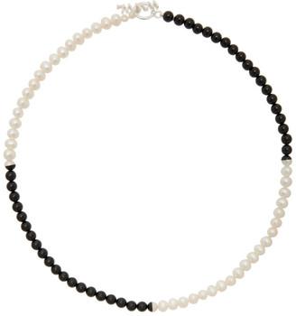 WWW.WILLSHOTT Black and White Pearl Necklace