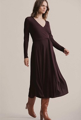 Witchery Rib Wrap Dress