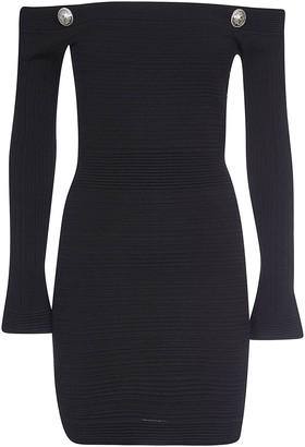 Balmain Rear Zip Fitted Dress