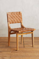 Anthropologie Leather Loom Dining Chair