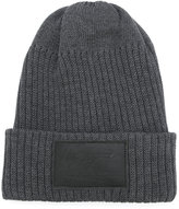 Yohji Yamamoto signature patch beanie - men - Cotton/Polyester - M