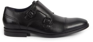Cole Haan Johnson Double Monk Strap Leather Oxfords
