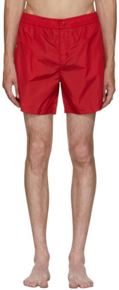 Moncler Red Dolmias Beach Swim Shorts