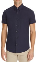 Theory Sylvain Wealth Short Sleeve Slim Fit Button Down Shirt