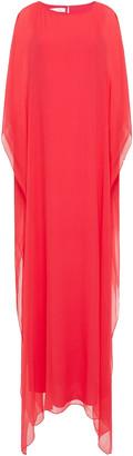 Oscar de la Renta Silk-blend Crepon Gown