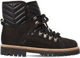 Ganni 30mm Winter Hiking Leather & Suede Boots