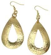 John S Brana Designer Jewelry Hammered Nu Gold Brass Open Tear Drop Earrings By John S Brana Handmade Jewelry Brass Earrings
