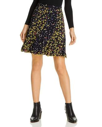 Derek Lam 10 Crosby Brontë Mixed Print Mini Skirt