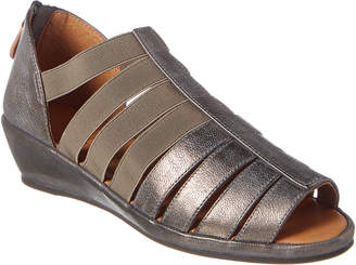Gentle Souls By Kenneth Cole Lana Leather Wedge Sandal