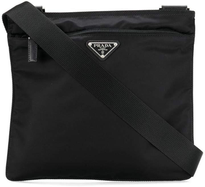 Prada logo plaque Vela cross-body bag