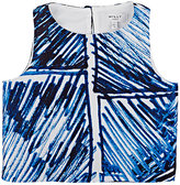 Milly Scribble-Print Sleeveless Top-BLUE