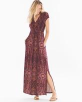 Soma Intimates Surplice Maxi Dress Eccentric Stripe Marsala - TL