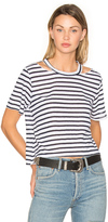 LnA Stripe Cut Out Crop Tee