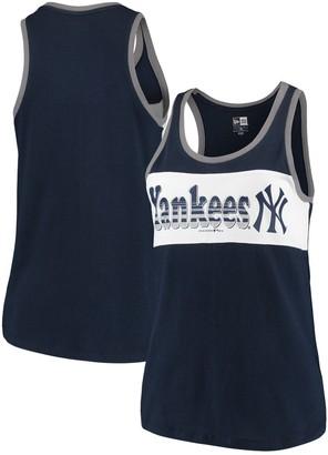 New Era Women's Navy New York Yankees Racerback Baby Jersey Tank Top