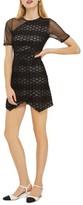 Topshop Women's Honeycomb Airtex Wrap A-Line Dress