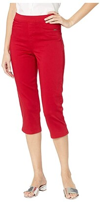 FDJ French Dressing Jeans D-Lux Denim Pull-On Capris in Red (Red) Women's Jeans
