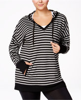 Ideology Plus Size Striped Hoodie Tunic, Only at Macy's