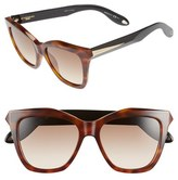 Givenchy Women's 53Mm Cat Eye Sunglasses - Havana Black