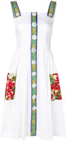 Dolce & Gabbana tile print trim dress - women - Silk/Cotton/Spandex/Elastane/Viscose - 40
