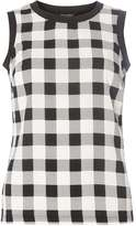 Dorothy Perkins Black And White Check Shell Top