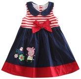 Three Four Baby Girl Cartoon Short Sleeve Princess Tutu Party Dress Skirt