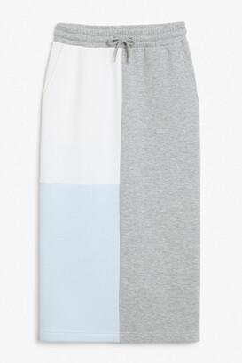 Monki Maxi sweat skirt