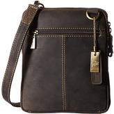 Visconti Brown Leather Crossbody Bag