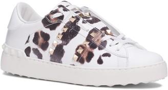 Valentino Garavani Rockstud Leopard Print Sneaker