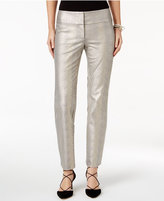 Alfani Petite Textured Straight-Leg Pants, Only at Macy's