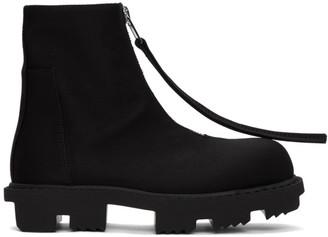 Rick Owens Black Megatooth Zip Boots