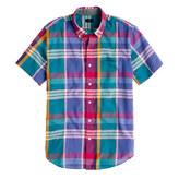 J.Crew Indian cotton short-sleeve shirt in sunset plaid