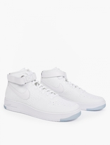 Nike White Air Force 1 Flyknit Sneakers