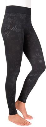 Muk Luks Women's Embossed Fleece-Lined Leggings