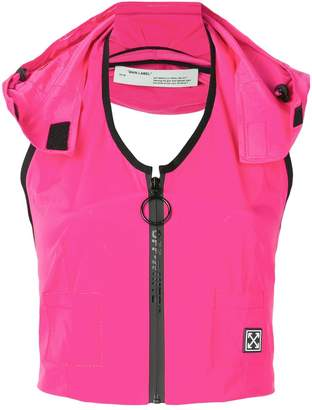 Off-White sporty gilet top
