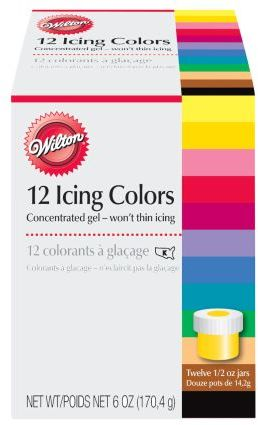 Wilton 12 Color Cookie Icing Kit