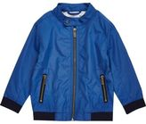 River Island Mini boys blue bomber jacket