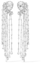 Erickson Beamon Paper Cranes Silver-tone Crystal And Bead Earrings